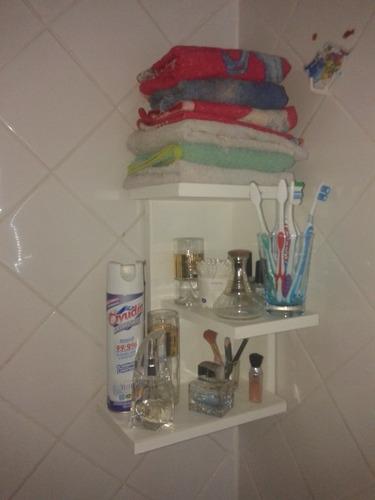 Hacer Organizador De Baño:Mueble Para Baño De Madera, Organizador De Baño Esquinero – $ 250,00