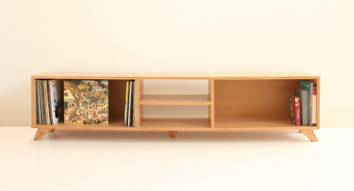 Muebles para television en madera - Mueble para vinilos ...