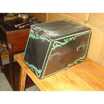 Antigua caja lustra zapatos lustrabotas fileteada for Muebles antiguos argentina