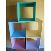 Cubos De Fibrofacil Pintados 40 X40x30 $80