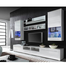Modular Lcd Rack Panel Tv Moderno Living Fabrica Baires 4