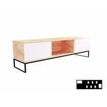Mesa Para Tv - Enchapado +estructura De Hierro (fabricantes)