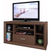 Mesa Tv Lcd Modular C/ Cajon Central Y Listones Decorativos!