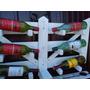 Bodega Blanca Tranquera Con Copero Madera Botellas Envios