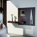 Recibidor Estante Mueble Perchero Con Espejo Alicante