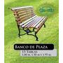 Banco De Plaza 15 Tablas Fundicion Filfer 150 Cm Blanco