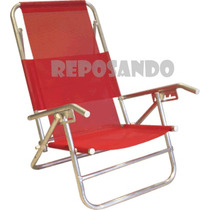 Reposera Aluminio Super Oferta 5 Posiciones Camping Playa