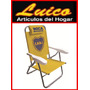 Reposera Sillon Boca River Aluminio 5 Posiciones Local Gtia