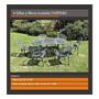 Mesa Chateau Ovalada Extra Grande Para Exterior En Aluminio