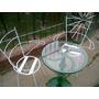 Mesa Y Sillas De Jardín En Hierro Simple Y Elegante Diseño