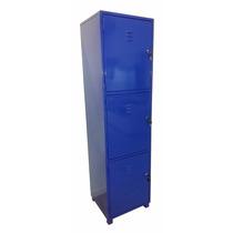 Locker Métalico 3 Puertas Con Estantes
