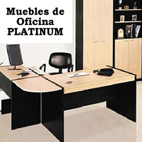 Muebles Para Oficina Platinum Escritorio Mesa Pc