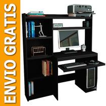 Escritorio Mesa Para Pc Reproex 11813 Alzada Y Biblioteca