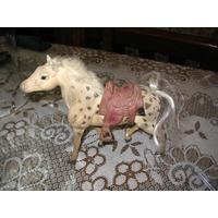 Caballo Caballito Original Juguete Adorno Horse Real Montur