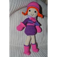 Amigurumi Muñeca Tejida Crochet (c/ Bufanda, Guantes, Bota)