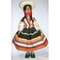 Muñeca Antigua Año 1973 Con Traje Tipico Coya