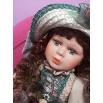 Muñeca De Porcelana Hermosa! En Caja Original