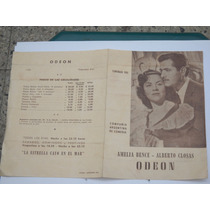 Programa De Teatro Odeon Año 1951