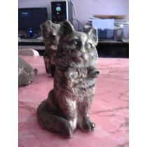 Escultura Estatua Antigua .gato Y Perritos A Restaurar
