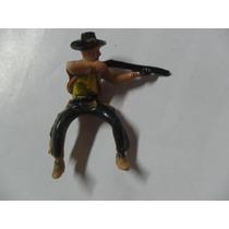 Vaquero Cowboy Montado Disparando Rifle Muñequito Far West