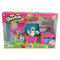 Shopkins Mini Super+2 Shopkins Exclusivos Bolsas Y Canasto