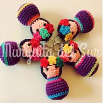 Frida Kahlo - Amigurumi Crochet-souvenir Murguita Del Sur