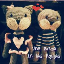 Amigurumi Gato O Gata, Muñeco Tejido Crochet