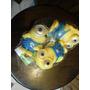 Minions De Goma Con Chifle X 3