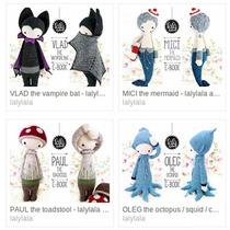 ¡promo! 4 Patrón Lalylala + 1 De Regalo - Crochet Amigurumi