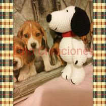 Snoopy Crochet Amigurumi Muñeco Tejido A Mano