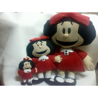 Linda Muñeca Tela Mafalda 44cm Personaje Historieta Quino