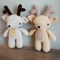 Amigurumi Reno Muñeco Tejido Al Crochet