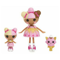 Figuras Mini Lalaloopsy - Spoons And Scoops Sisters - 7cm!
