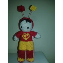 Chapulin Colorado Y Spiderman!! (amigurumi) Al Crochet
