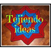 Manta Tejida Al Crochet Del Hombre Araña