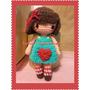 Muñeca De Lana Crochet Amigurumi Con Perro