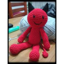 Diablo Diablito Amigurumi - Tejido A Crochet