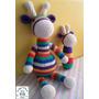 Set Bebe Amigurumi - Jirafa + Sonajero Tejidos Al Crochet