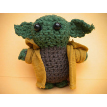 Star Wars Yoda Amigurimi En Crochet. Pinito Crochet