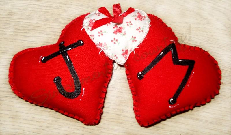 Muñecos Country - Corazones Unidos C/iniciales! San Valentín ...