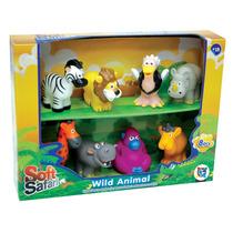 Muñecos Blandos Para Bebe Soft Safari Set Animales Salvajes