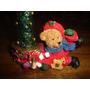 Adorno Oso Y Vela Navideño Regalos Navidad