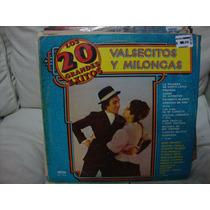 Vinilo Valsecitos Y Milongas Los 20 Grandes