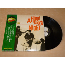 The Beatles A Hard Day´s Night Vinilo Japonés Con Obi