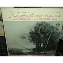 Jascha Heifetz Sonata N 9 Beethoven Violin Vinilo Argentino