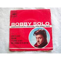 Disco De Vinilo Simple De Bobby Solo. San Remo 1965