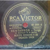Alberto Mancione Fiorentino Tango 78rpm Ventarrón Tinta Roja