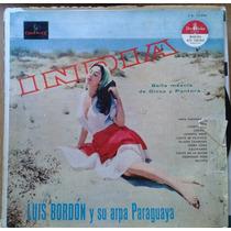Vinilo Luis Bordon Y Su Arpa Paraguaya India