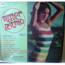 Disco De Vinilo Compilado De Los 80 Amor Con Ritmo Vol.5