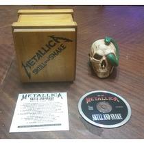 Metallica - Skull And Snake Cdbox De Madera Con Calavera